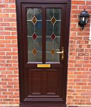 Elegant Appearance of a Traditional Wooden Front Door